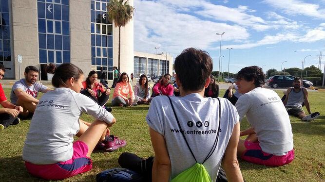 Taller sobre vida saludable en el Campus de Puerto Real.