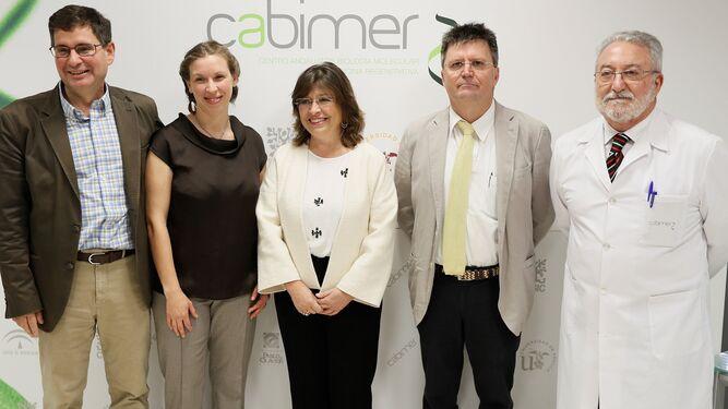 Los investigadores de sanidad de Cabimer.