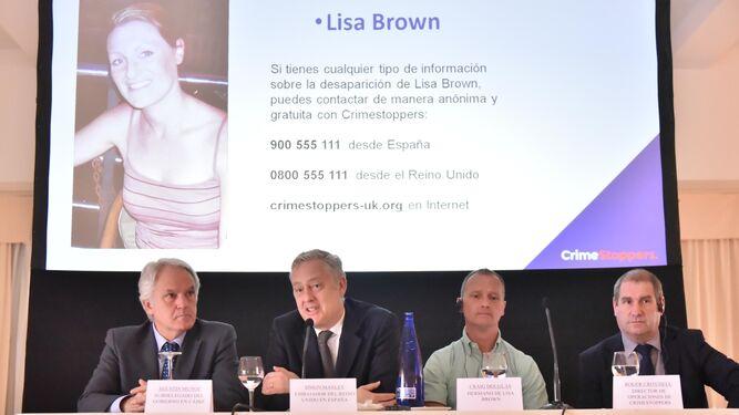 Imagen de una rueda de prensa sobre la desaparición de Lisa Brown, el pasado mes de marzo.
