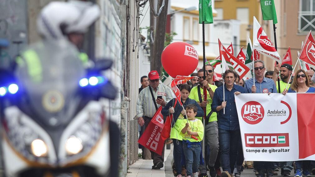 Manifestación del Día del Trabajo en la comarca