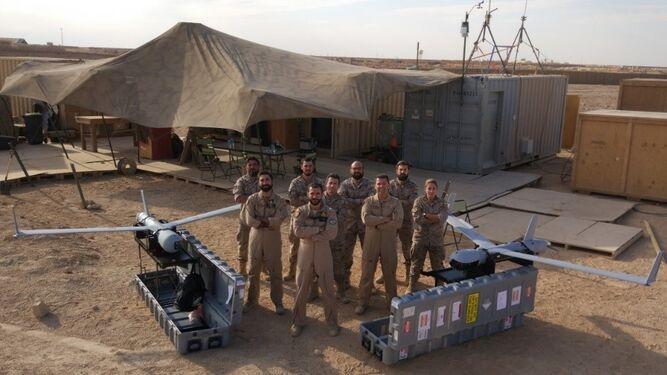 Primer y segundo equipo de la Undécima desplegados en Irak.