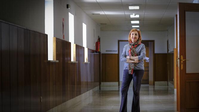 Ana Villagómez, en los pasillos de la Audiencia Provincial el pasado jueves, minutos antes de iniciar la entrevista.