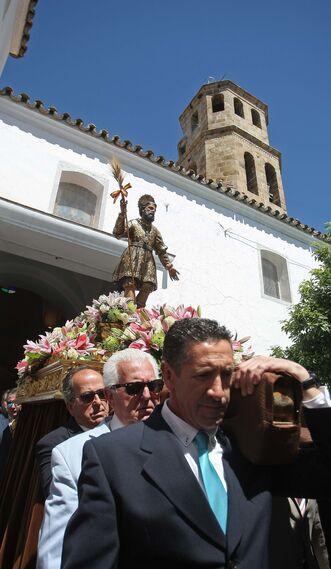 Procesión de San Isidro Labrador y la Virgen del Rosario en Los Barrios