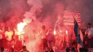 Las imágenes del Olympique de Marsella-Atlético de Madrid