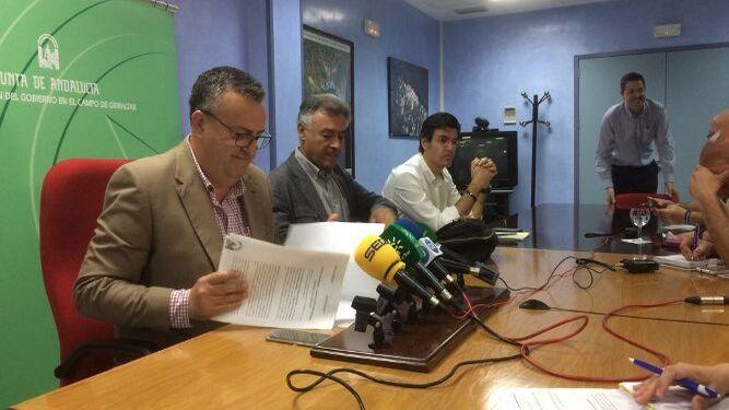 Ángel Gavino, Federico Fernández y Carlos Sánchez.