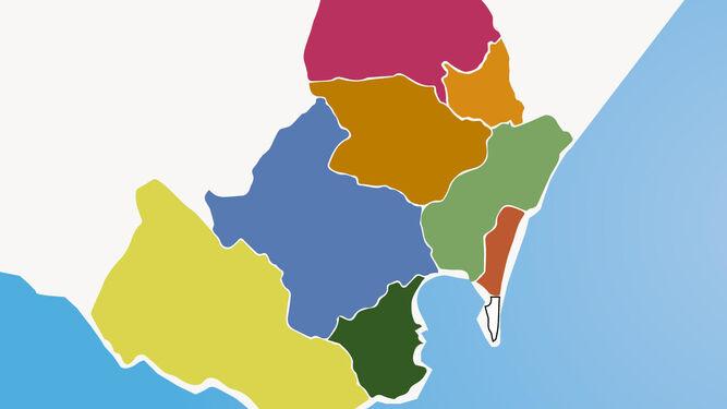 Campo De Gibraltar Mapa.Octavo Municipio Del Campo De Gibraltar La Mancomunidad