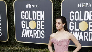 <p>Emmy Rossum, de Monique Lhuillier.</p>
