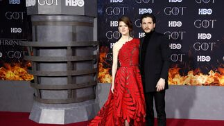 <p>Rose Leslie y Kit Harrington.</p>