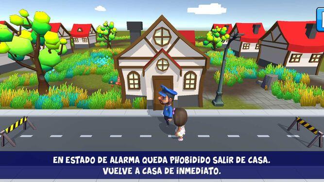 Una captura del videojuego Covid Game