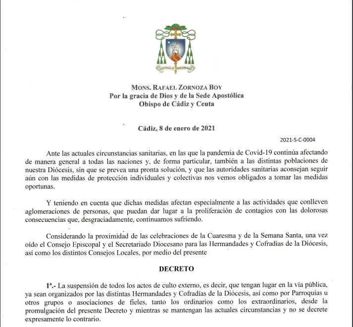 Decreto del Obispo