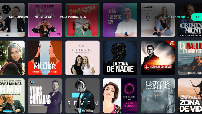 Algunos de los podcasts disponibles en Podimo.