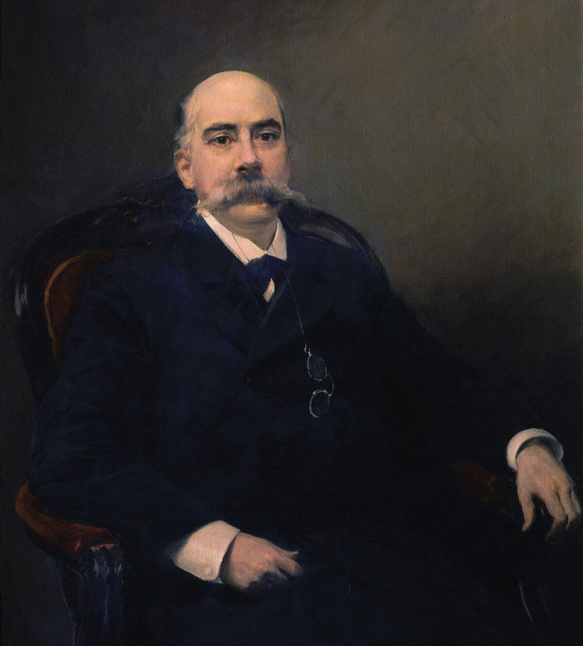 Emilio Castelar, presidente de la comisión sobre el ferrocarril.